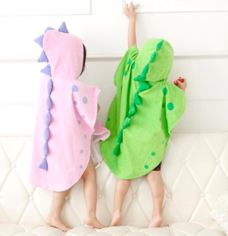 유아 공룡 비치타월